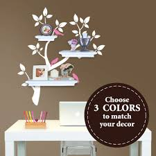 Tree Wall Decals For Nursery Tree Branch Decal With Birds For Floating Shelves The