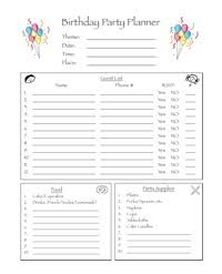 party planner next year s party planner the kids birthdays