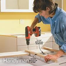 How To Install A Kitchen Countertop by How To Install A Countertop Family Handyman