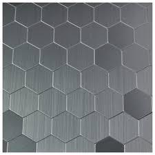 Peel And Stick Metal Backsplash by Self Adhesive Metal Mosaic 10 Pcs Hexagon Peel N Stick Tiles 12x12in