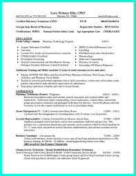 resume templates entry level retail pharmacy technician what objectives to mention in certified pharmacy technician resume