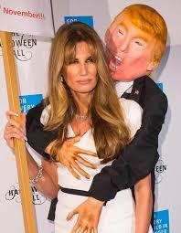Donald Trump Halloween Costume Jemima Khan Wears Controversial Donald Trump Halloween Costume