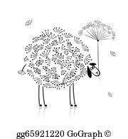 vector art funny black sheep clipart drawing gg55544658 gograph