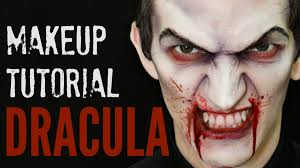 dracula u2014 scary vampire halloween makeup tutorial youtube