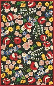 Poppy Area Rug Vera Bradley Signature Vby072a Poppy Fields Black Multi Closeout