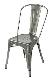Galvanized Bistro Chair Galvanized Steel Chairs Metal Outdoor Dining Furniture Chair With