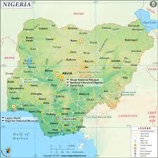 Africa Time Zone Map by Nigeria Map Map Of Nigeria