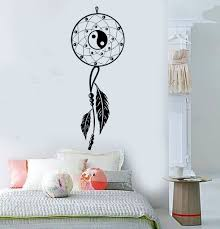 Vinyl Wall Decals by Vinyl Wall Decal Dream Catcher Bedroom Yin Yang Feathers Stickers