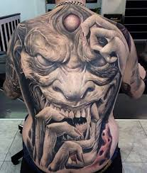 tattoo back face 30 awesome full back tattoos