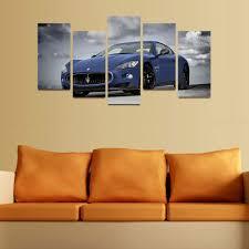 aliexpress com buy 5 panels canvas print blue famous car
