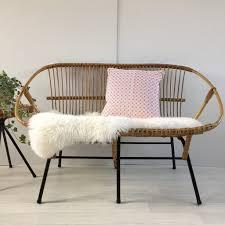 canap vintage vintage midcentury retro wicker sofa settee banquette canap nurani