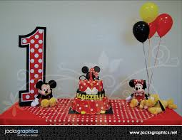Mickey Mouse Table by Mickey Mouse Clubhouse Party Design I Heart Graphic Design