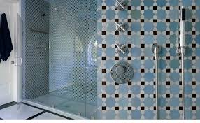 Blue Tile Bathroom by Mosaic House