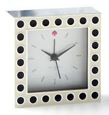 kate spade desk clock kate spade cross pointe spots small desk clock silver black dots 3 5