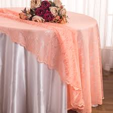 cheap lace overlays tables apricot peach lace table overlays linens toppers round