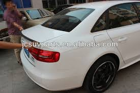 audi a4 spoiler unpainted pu rear spoiler for audi a4 b9 rear trunk lip car boot