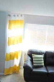 White And Yellow Curtains Curtains