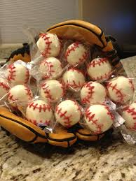 baseball cake pops for a baseball themed party baby shower