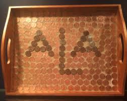 monogrammed serving trays monogrammed tray etsy