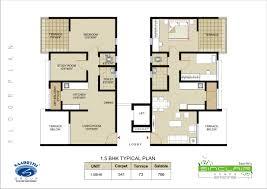 2bhk Plan by Floor Plan Saarrthi Sinclair Warje Pune Saarrthi Group 1 5