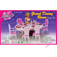 barbie dining room set miniature furniture my fancy life grand dining room for barbie doll