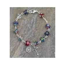bracelet murano glass images Murano glass heart shaped rosary bracelet 7mm the catholic company jpg