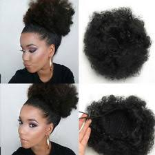 small afro puff buns hair pieces synthetic short bun curly hair extensions ebay