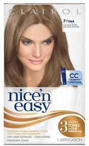 clairol nice u0027n easy 7 106a natural dark blonde permanent hair