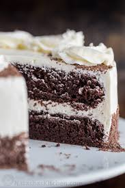 chocolate cake with swiss meringue buttercream natashaskitchen com