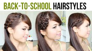 plait at back of head hairstyle back to school hairstyles 4 strand french braid bow braid