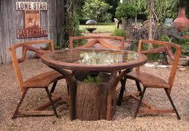 patio garden rustic outdoor garden furniture rustic wood