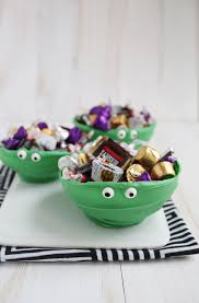 halloween candy bowls try this chocolate monster bowls u2013 a beautiful mess