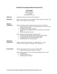 Best Example Resumes by Examples Of Resumes 6 Resume For Jobs Agreementtemplates
