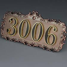 aliexpress com buy grade metal house number plate office door