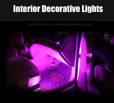 Neon Lights In Cars Interior 4pcs Car Interior Atmosphere Neon 9 Led Lights Strip 5050 Rgb Smd