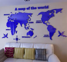 3d Map Of The World by Compare Prices On 3d World Map Wall Acrylic Online Shopping Buy