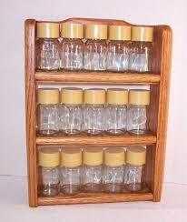 labels for kitchen canisters kitchen vintage solid oak wood spice rack 15 glass jars new spice