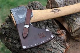 Handmade Swedish Axe - buy custom leather sheath for gransfors bruks small forest axe