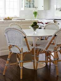 European Bistro Chair Fabulous Eat In Kitchen Features A Marble Saarinen Dining Table