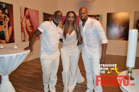 All White Attire For Pics Cynthia Bailey S All White Grand Opening For