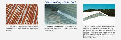 metal roof coating ames roofing products
