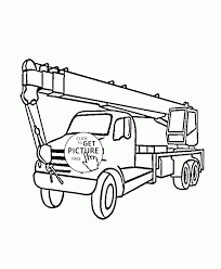 boom truck coloring page for kids transportation coloring pages