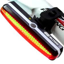 brightest bicycle tail light ultra bright bike light blitzu cyborg 168t usb rechargeable bicycle ta