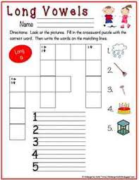 crossword puzzle phonics fun set 1 short vowels and long vowels