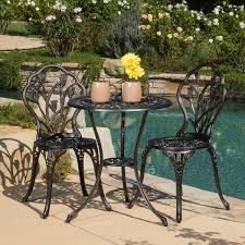 Outdoor Bistro Table Nassau Cast Aluminum Outdoor Bistro Furniture Set By Christopher