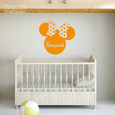 compare prices on wall decor nursery online shopping buy low mini mouse wall sticker diy custom name wall decal kids room girls name wall decor baby