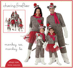 sock monkey costume chasing fireflies go ape our sock monkey family costumes milled