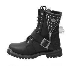 womens boots harley davidson 87051 harley davidson womens black leather mid cut boot