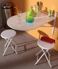 table murale de cuisine table murale 2 tabourets sinai blanc