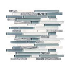 Waterfall Glass Tile Bliss U2013 Iceland Glass Stone Linear Blend Mosaics Tile In Style Store